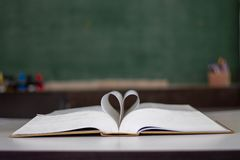 .Closed heart shape from the book stock images