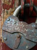 The closed hinged lock. Royalty Free Stock Photography