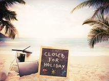 Closed for holiday Stock Photography