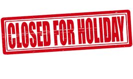 Closed for Holiday. Stamp with text closed for Holiday inside,  illustration Stock Images