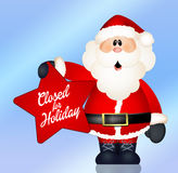 Closed for holidays. Illustration of closed for holidays sign Royalty Free Stock Photography