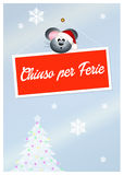 Closed for holidays Stock Images