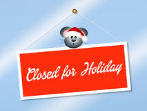 Closed for holidays Stock Photography