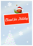 Closed for holidays Royalty Free Stock Image