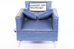 Closed for holidays. Royalty Free Stock Image