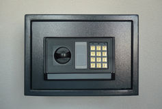 Closed home safe stock photo