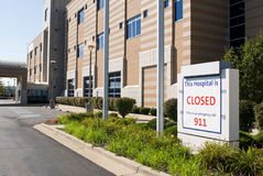 Closed Hospital Stock Photography