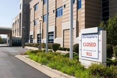 Closed Hospital stock photography