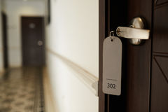 Closed hotel room door Stock Photos