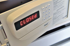 Closed hotel safe Royalty Free Stock Photography