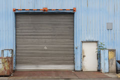 Closed Industrial Gate Royalty Free Stock Photos