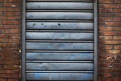 Closed iron curtain Royalty Free Stock Photo
