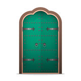 Closed the iron door in flat style. Vector illustration isolated Royalty Free Stock Photos