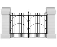 Closed Iron Gate Royalty Free Stock Images
