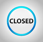 Closed Round Blue Push Button royalty free illustration