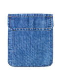 Closed jeans pocket isolated. Stock Images
