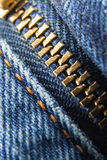 Closed jeans zipper Royalty Free Stock Images