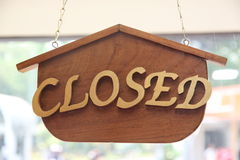Closed label Stock Images