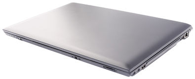 Closed laptop isolated Stock Photo
