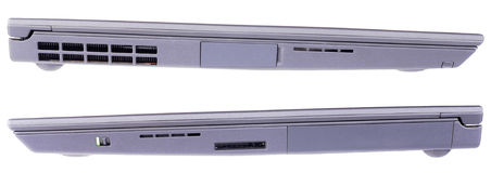 Closed laptop side views Stock Image