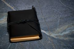 Closed leather bound journal Royalty Free Stock Images