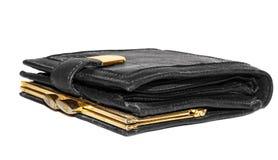 Closed leather purse Stock Image
