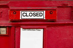 Closed letterbox. Royalty Free Stock Images