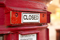 Closed letterbox Royalty Free Stock Photo