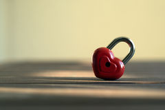 Closed lock  in the form of heart Royalty Free Stock Photography