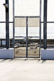 Closed and locked gates Royalty Free Stock Images