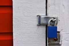Closed and Locked Padlock Close Up stock photo
