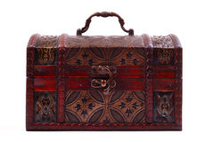 Closed and locked treasure chest Royalty Free Stock Photo