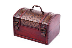 Closed and locked treasure chest Royalty Free Stock Images