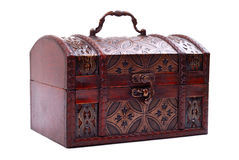 Closed and locked treasure chest Stock Image