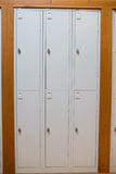 Closed lockers in a row at the college Royalty Free Stock Image