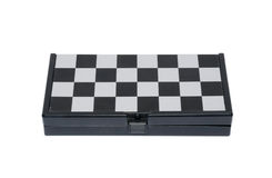 Closed magnetic chess board on white background Royalty Free Stock Image