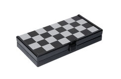 Closed magnetic chess board on white background Stock Images
