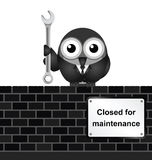 Closed for Maintenance Stock Image
