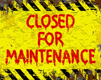 Closed For Maintenance Sign Royalty Free Stock Image
