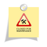 Closed for maintenance. Vector illustration Royalty Free Stock Image