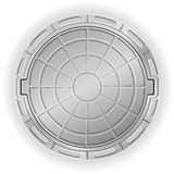 Closed manhole vector illustration Royalty Free Stock Image