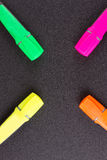 Closed markers for design works Stock Photos