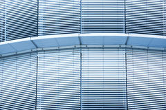 Closed metal blinds of an office building Stock Images