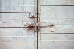 Closed metal door Stock Image