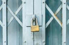 Closed metal door with lock Stock Photography