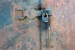 Closed metal door with lock Stock Photography