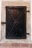 Closed metal door Royalty Free Stock Photo