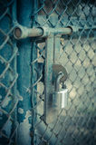Closed metal lock door security protection padlock Royalty Free Stock Image