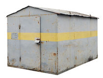 The closed metal rural shed Royalty Free Stock Images