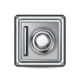 Closed metal safe vector illustration  Stock Image